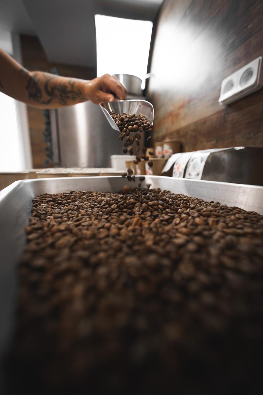 glace au café grain