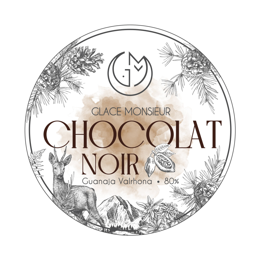 glace chocolat noir glacerie madame monsieur