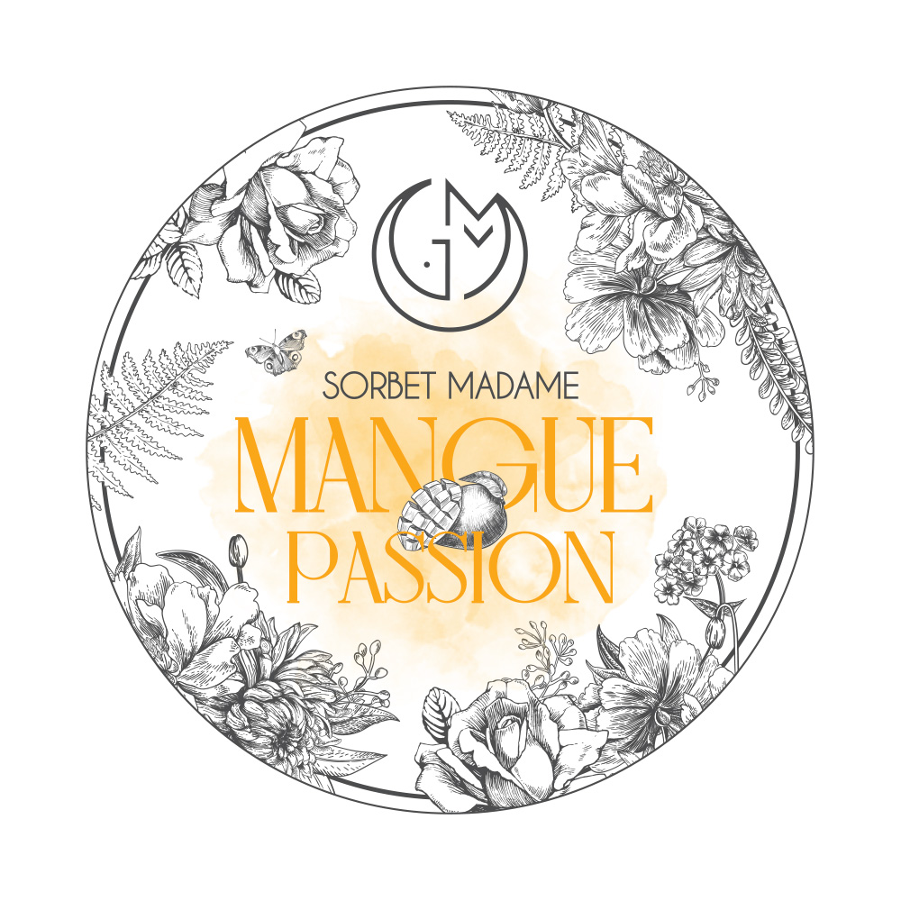 sorbet mangue passion glacerie madame monsieur