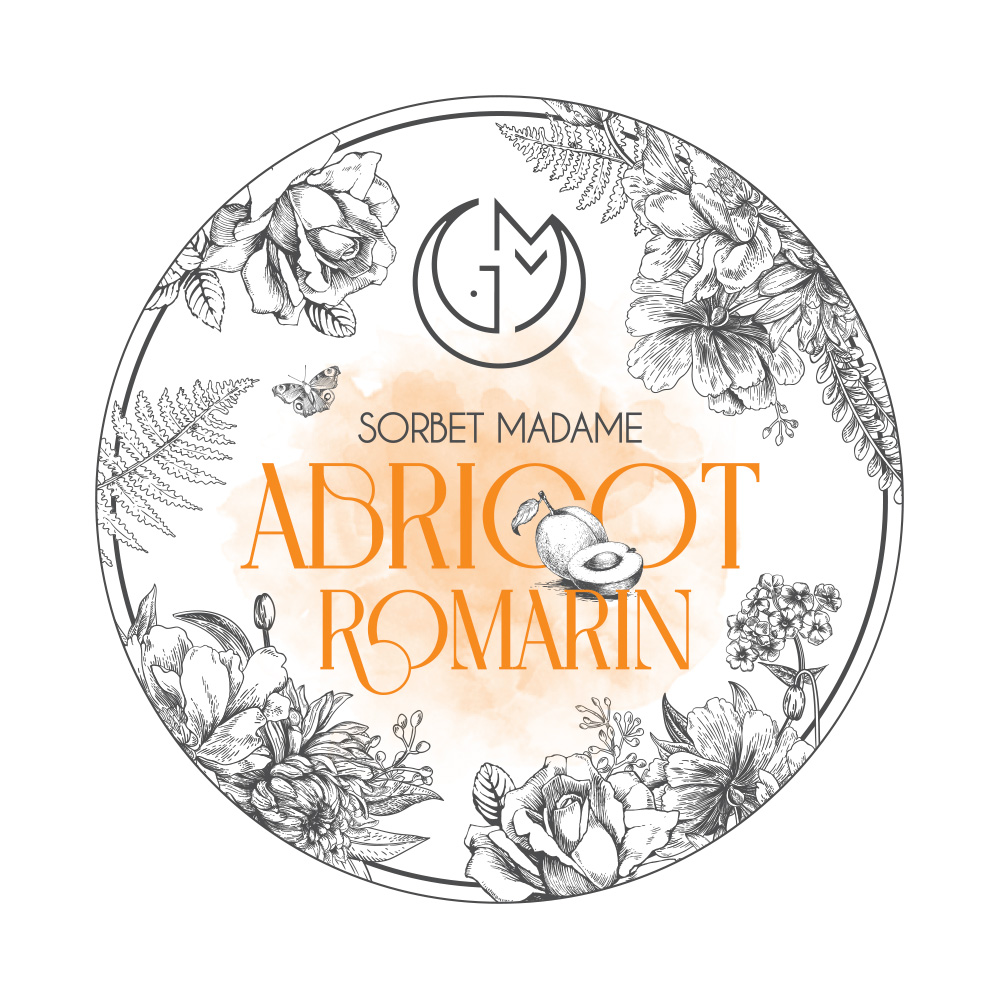 sorbet abricot romarin glacerie madame monsieur