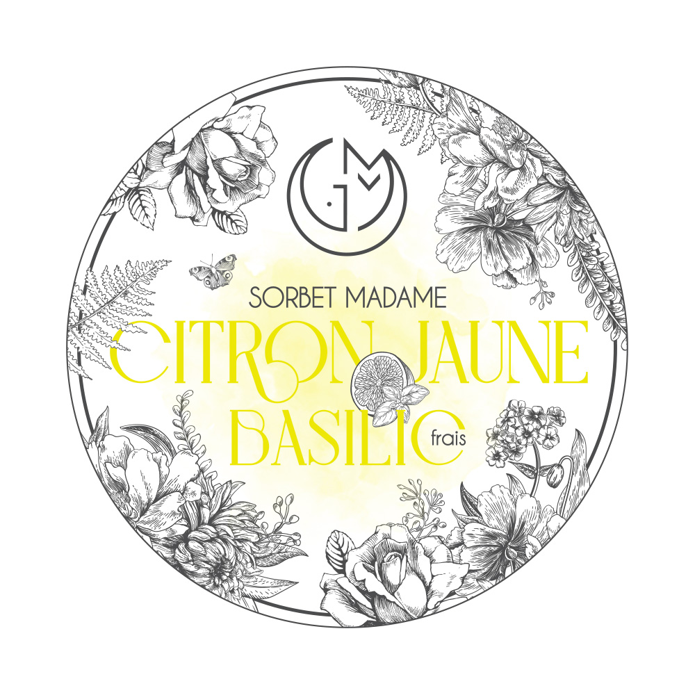 sorbet citron jaune basilic glacerie madame monsieur
