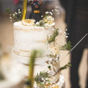Mariage nude cake chalet de l'ours naked cake
